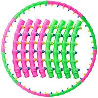 Обруч массажный Хула Хуп Hula Hoop DOUBLE GRACE MAGNETIC (пластик, 8 секций с магнитами, d-100см)