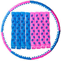 Обруч массажный Хула Хуп Hula Hoop DOUBLE GRACE MAGNETIC (пластик, 8 секций с магнитами, d-105см)