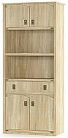 Книжный шкаф Валенсия 4Д+1Ш дуб самоа