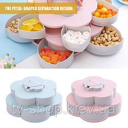 Менажниця для снеків і солодощів з підставкою для телефону Flower Candy Box
