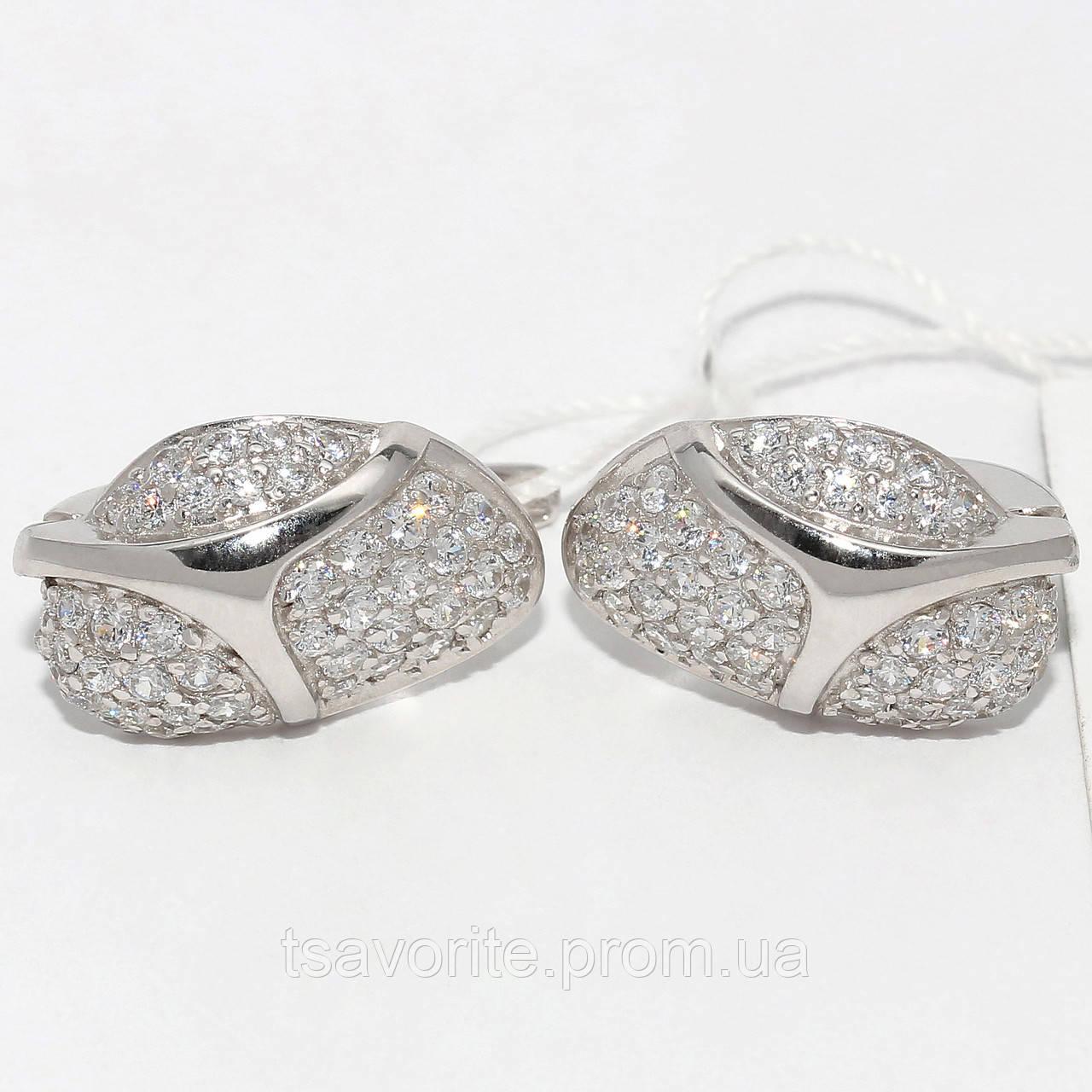 Серебряные серьги СЖХ-7