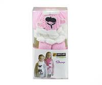 Набор для вязания Yonca Fancy Art шарф овечка розовая