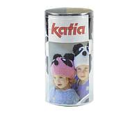 Набор для вязания Katia Kid's шапка панда голубая №90
