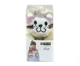 Набор для вязания Yonca Fancy Art шарф кошка секционное крашение TR45Ndv15YFAca