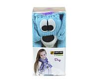 Набор для вязания Yonca Fancy Art шарф собака фиолетовый
