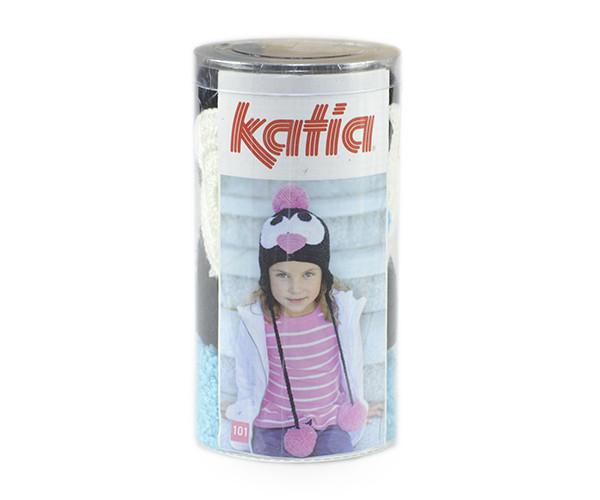 Набор для вязания Katia Kid's шапка пингвин голубой №100