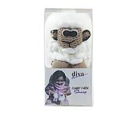 Набор для вязания Diva шарф овечка белая
