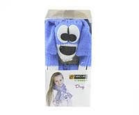 Набор для вязания Yonca Fancy Art шарф собака синий