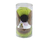 Набор для вязания Purple Yarns шапка обезьяна зеленая