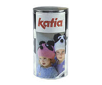 Набор для вязания Katia Kid's шапка панда белая №91