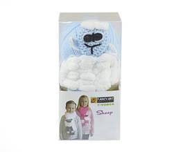 Набор для вязания Yonca Fancy Art шарф овечка голубая