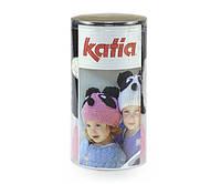 Набор для вязания Katia Kid's шапка панда розовая №92