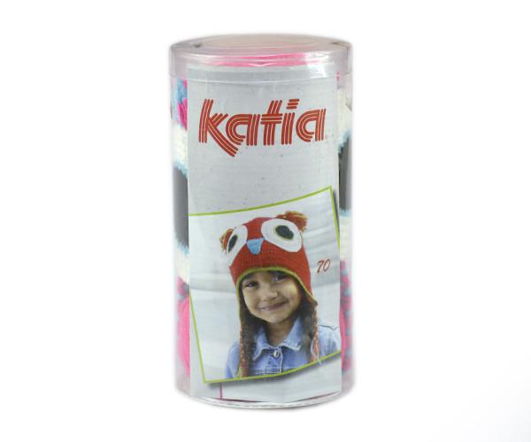 Набор для вязания Katia Kid's шапка сова розовая №71