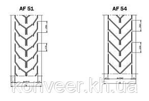 Конвейерные ленты Chevron с типом профиля AF