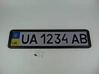 Рамка номерного знака, Vitol PHC-75055, черная-сетка, 1шт
