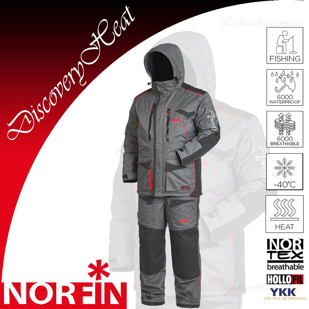 Зимний мужской костюм с электроподогревом Norfin Discovery Heat -40С