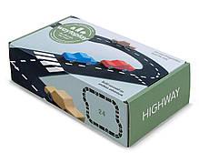 Гибкая автомобильная трасса Waytoplay Шоссе 24 дорожных частей длина 376 см (025)