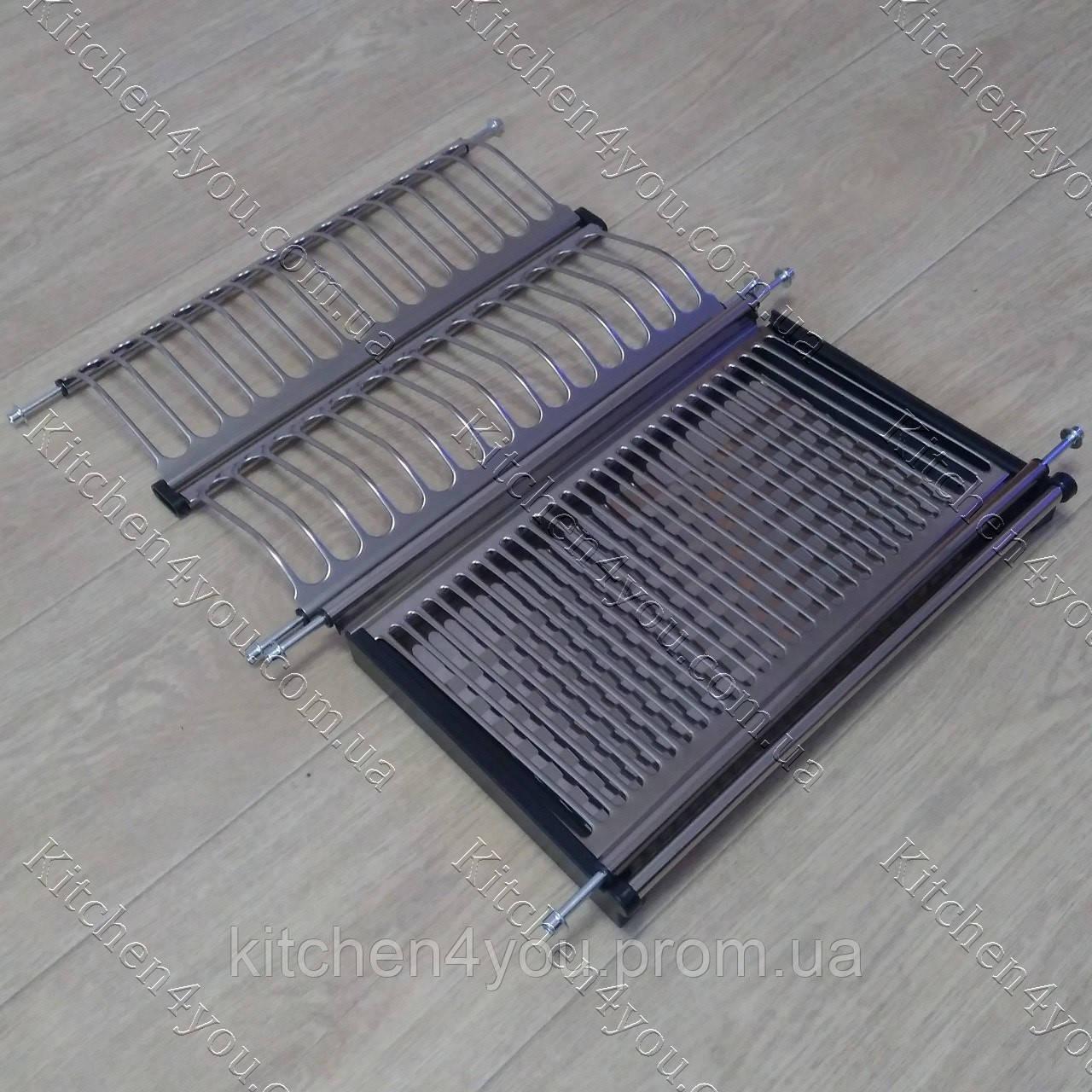 Вбудована сушка в секцію 450 мм. для посуду з нержавіючої сталі