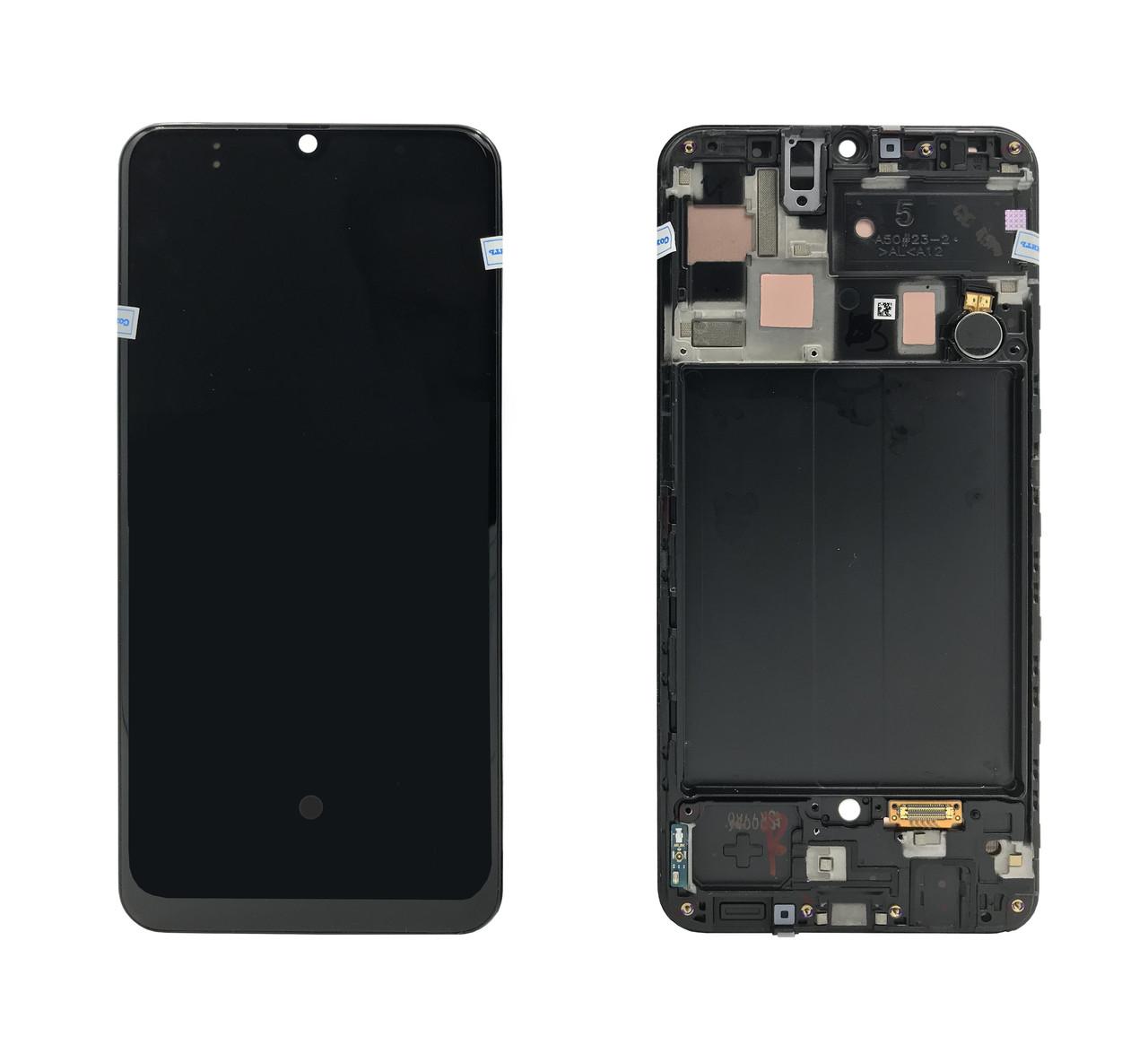 Дисплей + сенсор с передней панелью Samsung A505 Galaxy A50 (2019) Black Оригинал 100% SERVICE PACK GH82-19204A