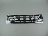 Рамка номерного знака, Elegant 100587, металлизированная хром, 1шт
