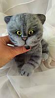 """Валяный котенок """"Вениамин"""", сухое валяние, игрушка авторская, подарки для друзей"""