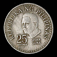Монета Филиппин 25 сентимо 1982 г. «Хуан Луна-и-Новисио – филиппинский художник, революционер»