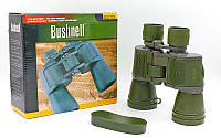 Бинокль Bushnell 20х50 (пластик, стекло,чехол), (750WD, 7х50, оливковый) PZ-TY-4519