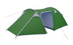Палатка кемпинговая 4-х местная с тентом и тамбуром VENICE (2,1x(1,2+0,9+2,4)х1,3м) PZ-SY-100904