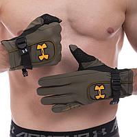 Перчатки спортивные теплые водонепроницаемые UAR (флис, PL, закрытые пальцы, M-XL) PZ-BC-1624