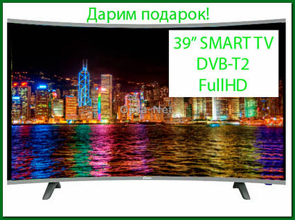 "Изогнутый телевизор Comer E39DU1100 (39""/SmartTV/FullHD/DVB-T2)"