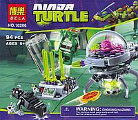 Конструктор Bela серия NINJA TURTLES 10206 (Побег Крэнга из лаборатории)