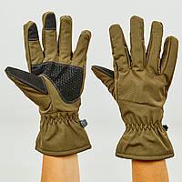 Перчатки для охоты, рыбалки и туризма теплые флисовые (флис, полиэстер, закрытые пальцы, р-р L-2XL, цвета в ассортименте)