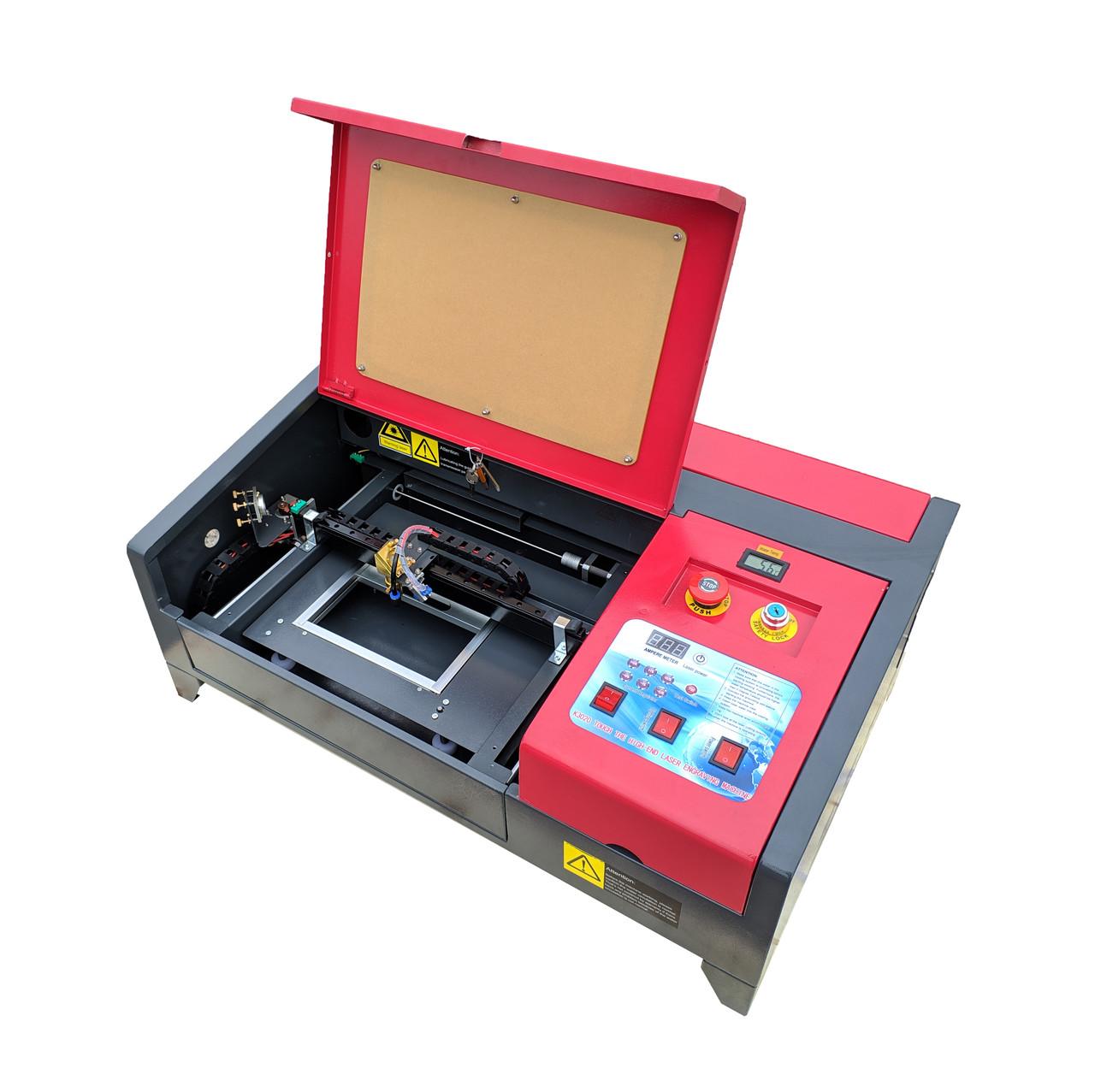 Лазерный станок GLMaster 3020 40 Вт  поле 300х200 мм CO2 лазерный гравер с ЧПУ 2020г + сотовый стол