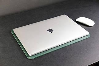Чохол для MacBook Вінтажна шкіра колір Зелений, фото 2
