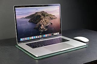 Чохол для MacBook Вінтажна шкіра колір Зелений, фото 3