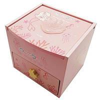 "Шкатулка  детская ""Русалочка"" розовая, деревянная Размер: 11-11-11 см."