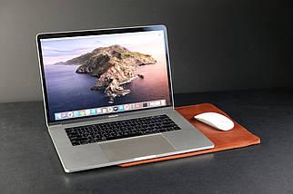 Чехол для MacBook Винтажная кожа цвет Коньяк, фото 3