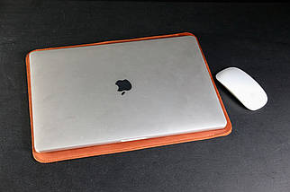 Чехол для MacBook Винтажная кожа цвет Коньяк, фото 2