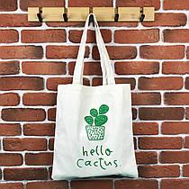 Тканевая сумка Шоппер City-A Hello Cactus Белая