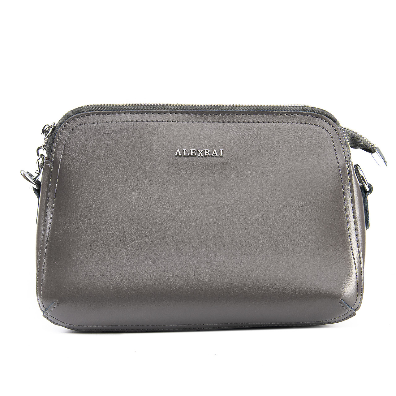 Сумка Женская Классическая кожа ALEX RAI 09-2 8725 grey