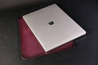 Чохол для MacBook Шкіра Італійський краст колір Бордо, фото 3