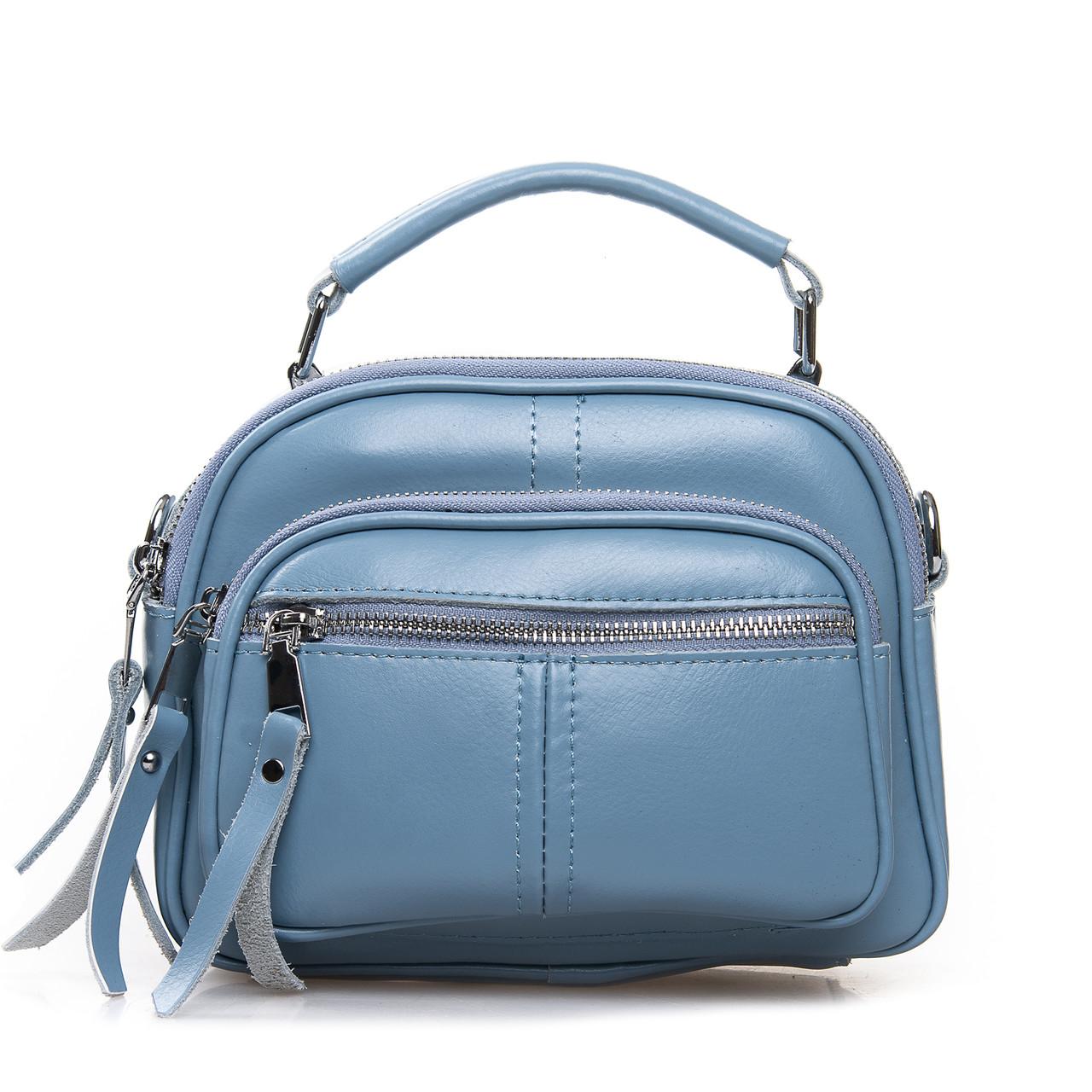 Сумка Женская Клатч кожа ALEX RAI 2-01 8802 light-blue