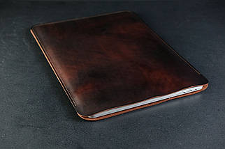 Чехол для MacBook Дизайн №1 Кожа Итальянский краст цвет Вишня, фото 2