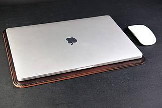 Чехол для MacBook Дизайн №1 Кожа Итальянский краст цвет Вишня, фото 3