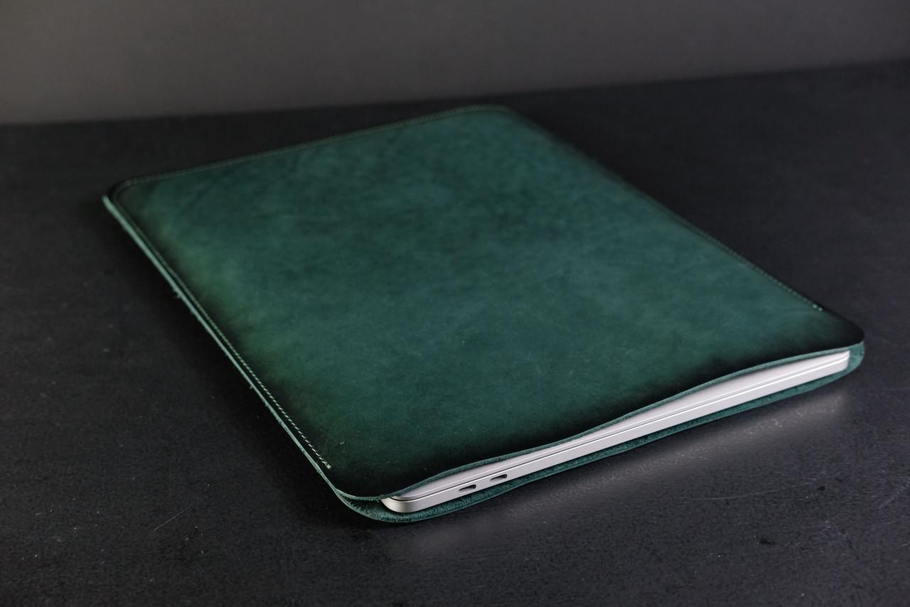 Чохол для MacBook Шкіра Італійський краст колір Зелений