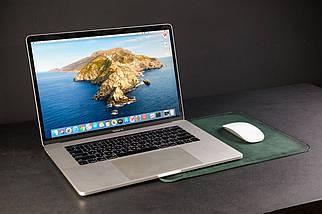 Чохол для MacBook Шкіра Італійський краст колір Зелений, фото 3