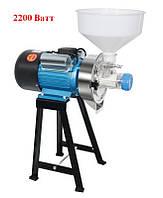Akita jp ML-MA (2200 Ватт) электрическая жерновая мини мельница для помола муки зерна солода кофе специй перца