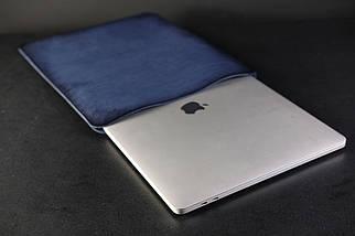 Чохол для MacBook Шкіра Італійський краст колір Синій, фото 2