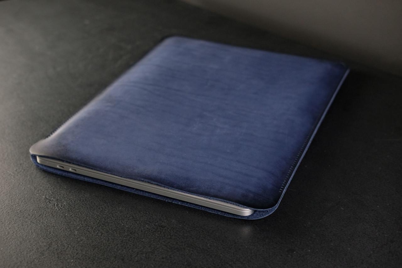 Чохол для MacBook Шкіра Італійський краст колір Синій