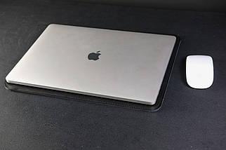 Чохол для MacBook Шкіра Італійський краст колір Чорний, фото 2